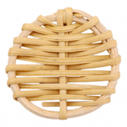 Pendente in rattan 40 mm rotondo marrone naturale