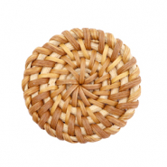 Pendente in rattan 35 mm rotondo marrone naturale