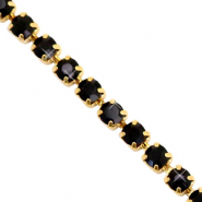 Catena strass nero-oro