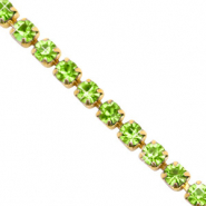 Catena strass verde lime-oro