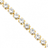Catena strass cristallo-oro