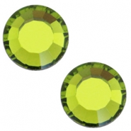 Swarovski Elements SS20 a fondo piatto (4,7 mm) Olivine green